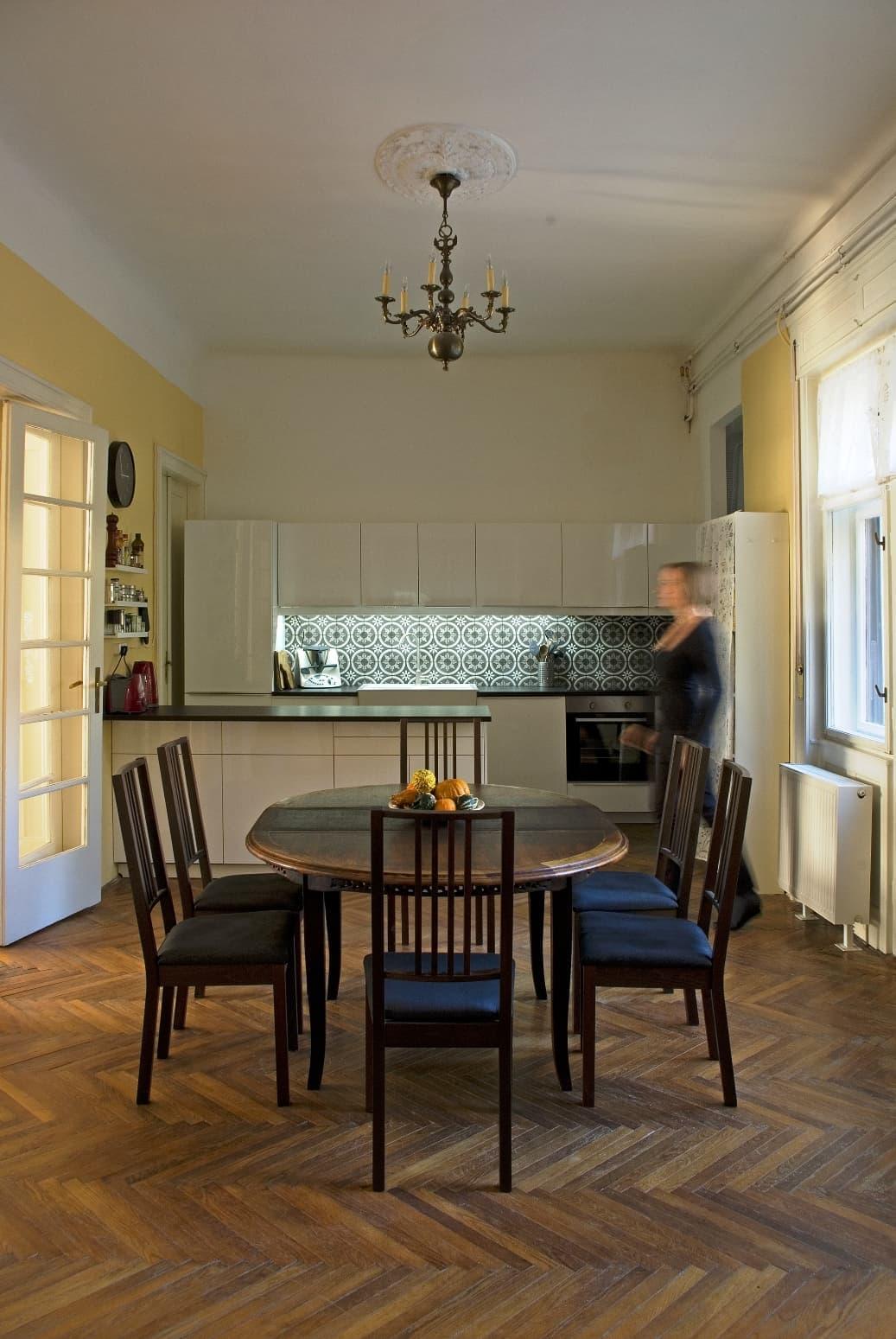 madeira in der k che marrakesh zementfliesen. Black Bedroom Furniture Sets. Home Design Ideas